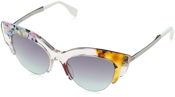 460c03f7edf Amazon.com  Fendi Women s Jungle Cat Eye Printed Sunglasses