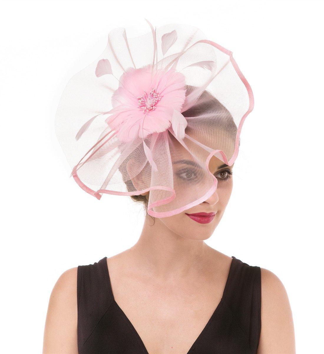 Amazon Derby Fascinator Hat Flower Cocktail Tea Party Hats