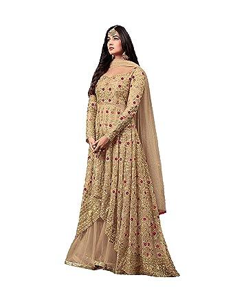 8da6cf5c8c4 Amazon.com  Women s Anarkali Salwar Kameez Designer Indian Dress Ethnic  Party Embroidered Gown  Clothing