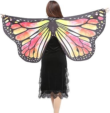 Xinantime Disfraz de Alas de Mariposa para Mujer, Adulto Mariposa ...