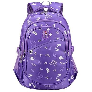 05e488ec29 Macbag School Backpack Bookbag Durable Camping Backpack for Boys and Girls  (Purple)
