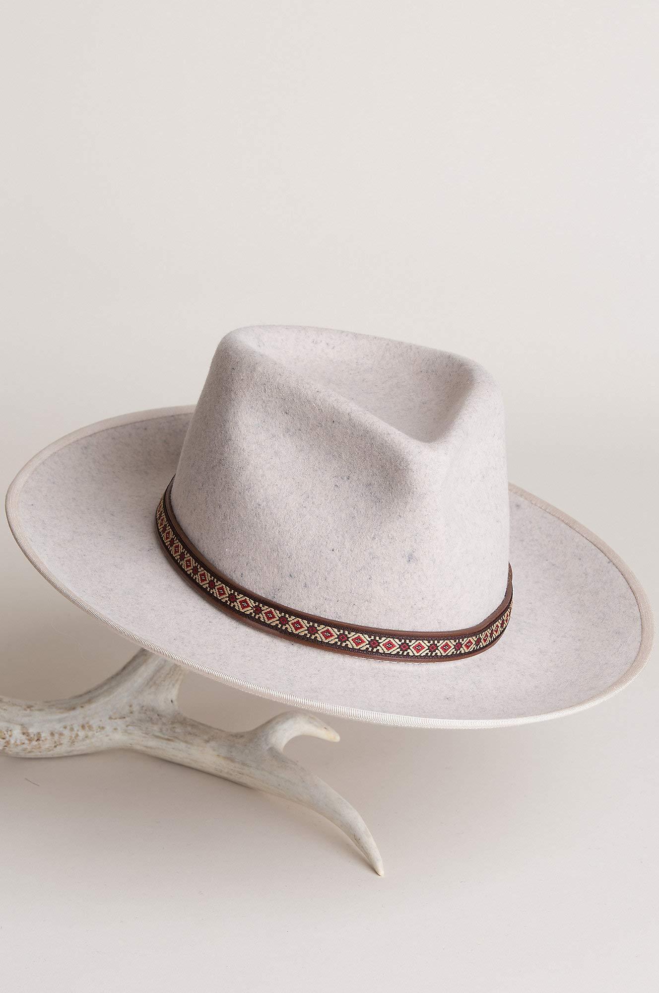 Overland Sheepskin Co Alpes Wide Brim Wool Felt Fedora Hat by Overland Sheepskin Co (Image #7)