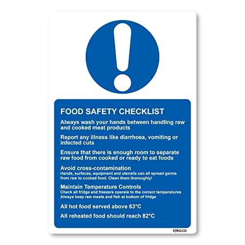 HEALTH & SAFETY 2 X A4 LAMINATED COMMERCIAL KITCHEN SIGNS