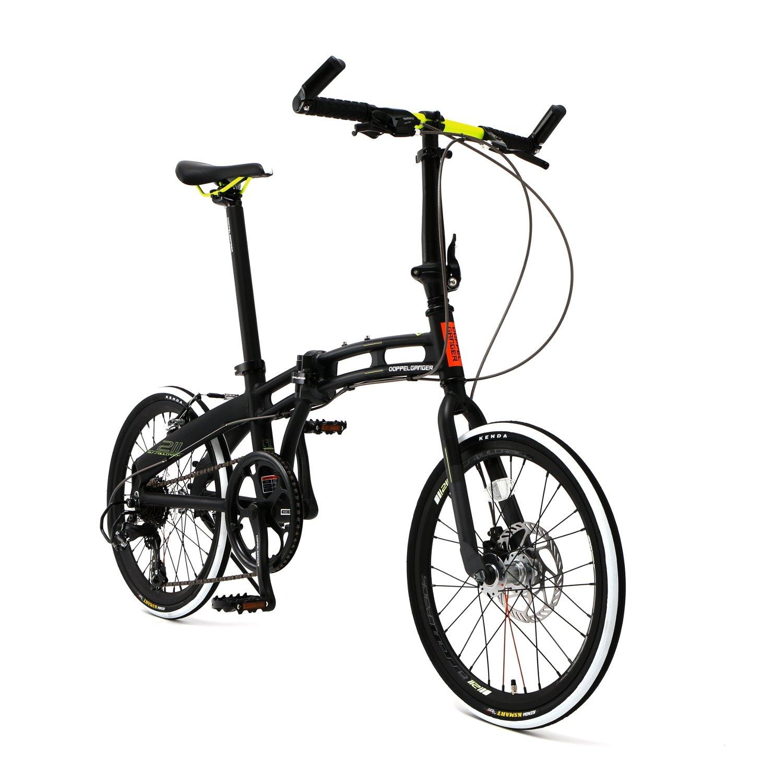 DOPPELGANGER(ドッペルギャンガー) 【 Blackmax シリーズ 】 ASSAULTPACK 20インチ 折りたたみ自転車 シマノ7段変速 アルミフレーム グレー×ネオン.YE 211-R-GY B079Z3QH2S