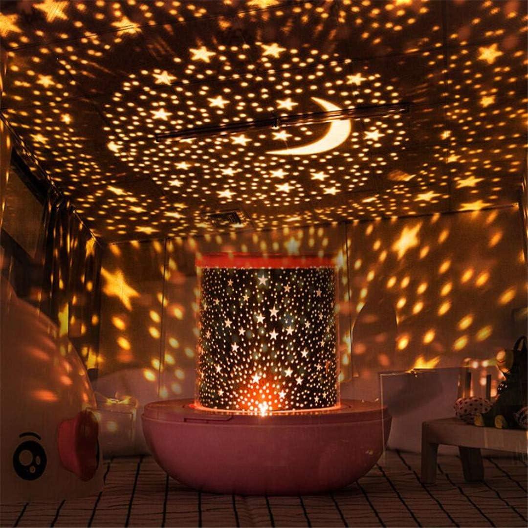 Night Light Star Light Projector Starry Bedroom Dreamy Romantic Rotating Starlight Room Sleeping Star Lights Ocean Lights Amazon Co Uk Lighting