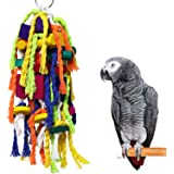 RYPET Large and Small Parrot Chewing Toys - Parrot Cage Bite Toys Wooden Block Tearing Toys for Conures Cockatiels…