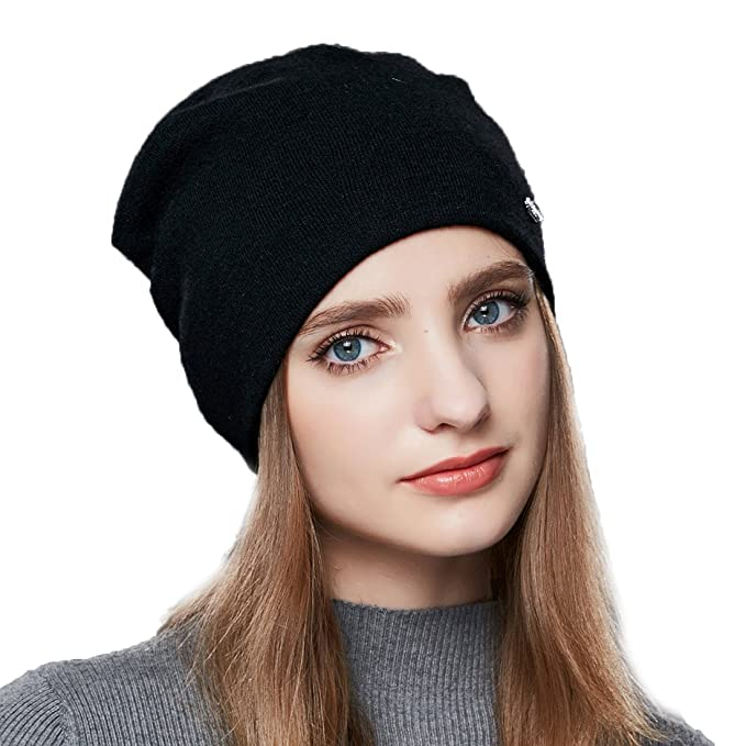 271c896f618ff URSFUR Wool Knit Beanie Daily Hat Women Winter Warm Skullies Cap Cuff  Headwear Unisex Slouchy Bobble