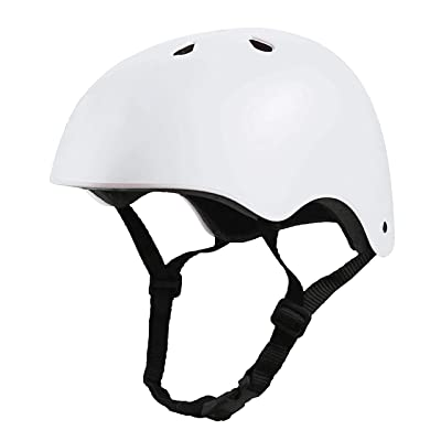 Crazy Loop Kids/Toddler Bike Helmet Certified Impact Resistance Ventilation for Bicycle Cycling Skateboarding Scooter Roller Skate Inline Rollerblading Longboard. Adjustable Straps. Boys/Girls. White : Sports & Outdoors