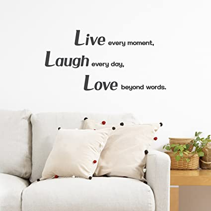 Amazon.com: Decowall DWG-704B_Charcoal Love, Laugh and Live ...