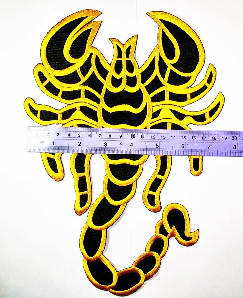"""8. 5"""" x 11. 5"""" big jumbo large big huge jumbo black yellow scorpion."""