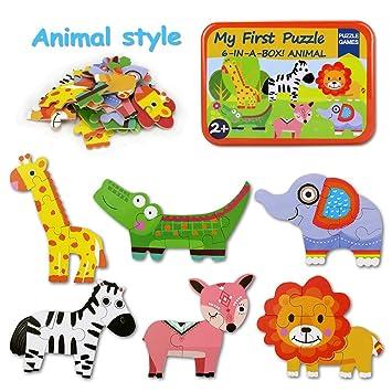BBLIKE Puzzles infantiles 3 años,Dibujos Animados, Juguete Infantil Creativo para la Primera Infancia, para bebé, niños, cumpleaños, Regalo de ...