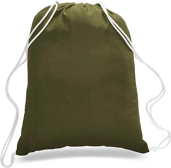 OIWAS Drawstring Bag Cinch Sack Backpack School Tote Gym Beach Travel Bag BLACK