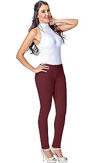 L.O.W.L.A SHAPEWEAR Lowla Women Colombian Mid Rise Skinny Butt Lifter Jeans Pantalon Levanta Cola
