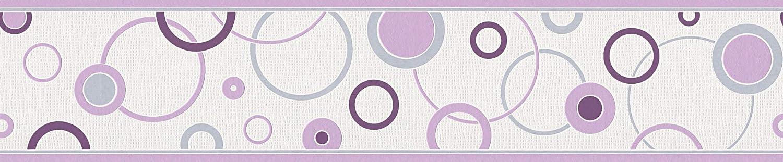 A.S Cr/éation cenefa Happy Hour gris lila blanco 5,00 m x 0,13 m 259325