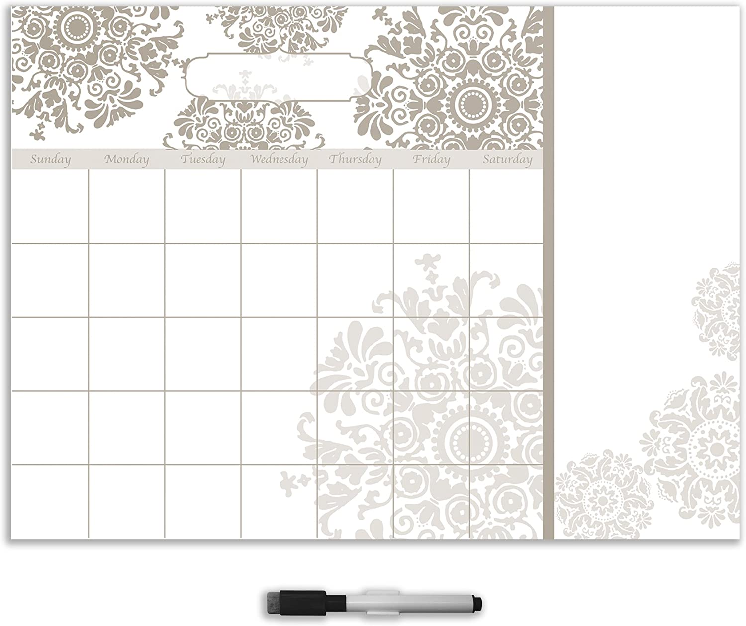 Wall Pops WPE1216 Kolkata Calendar with Notes Decal