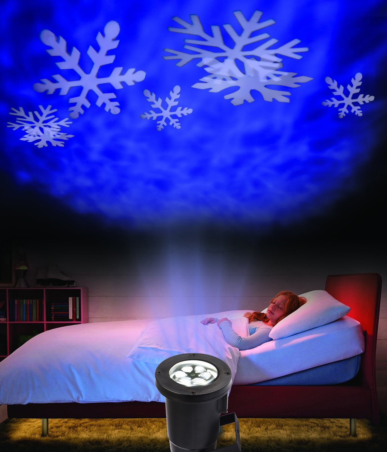 Amazon SummitLink White Snow Shower Christmas Light Show LED