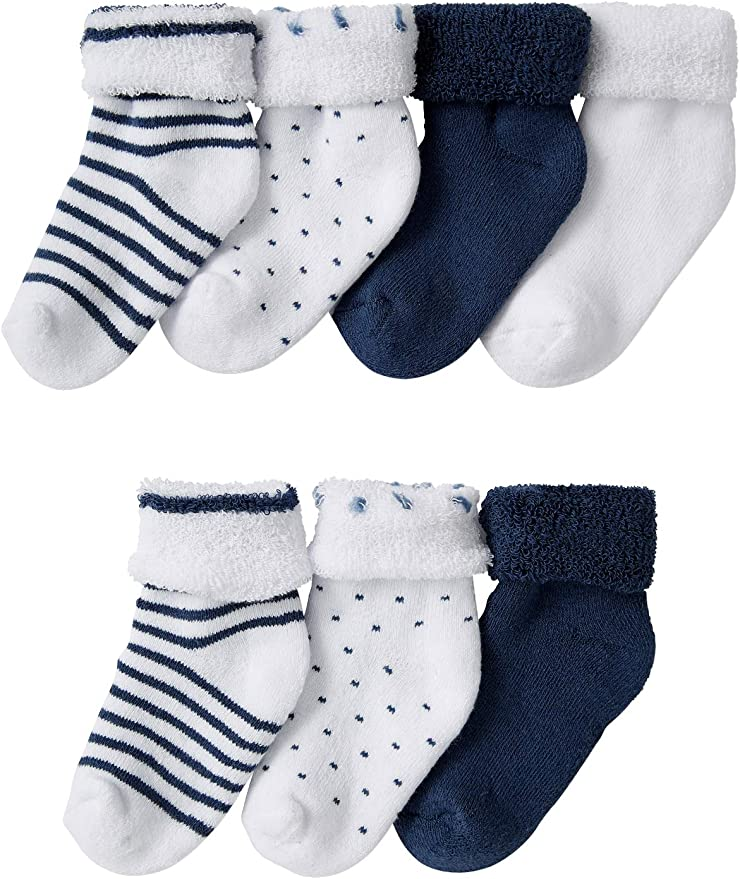 B/éb/é Enfant Z-Chen Lot de 5 Paires Chaussettes Antid/érapant en Coton 0-1 Ans