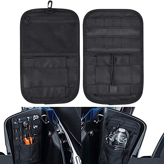 Schwarze Motorrad Satteltaschen Organizer Harte Taschen Aufbewahrung Kleine Werkzeuge Für Harley Touring Auto