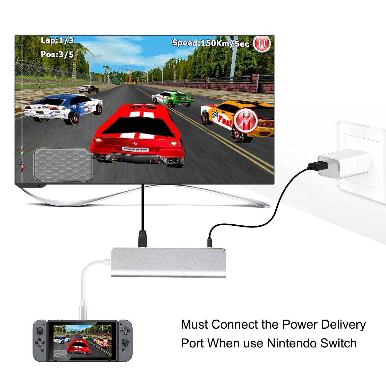 Adaptador de USB C a HDMI 4K para Samsung DeX Station, USB Type-C ...