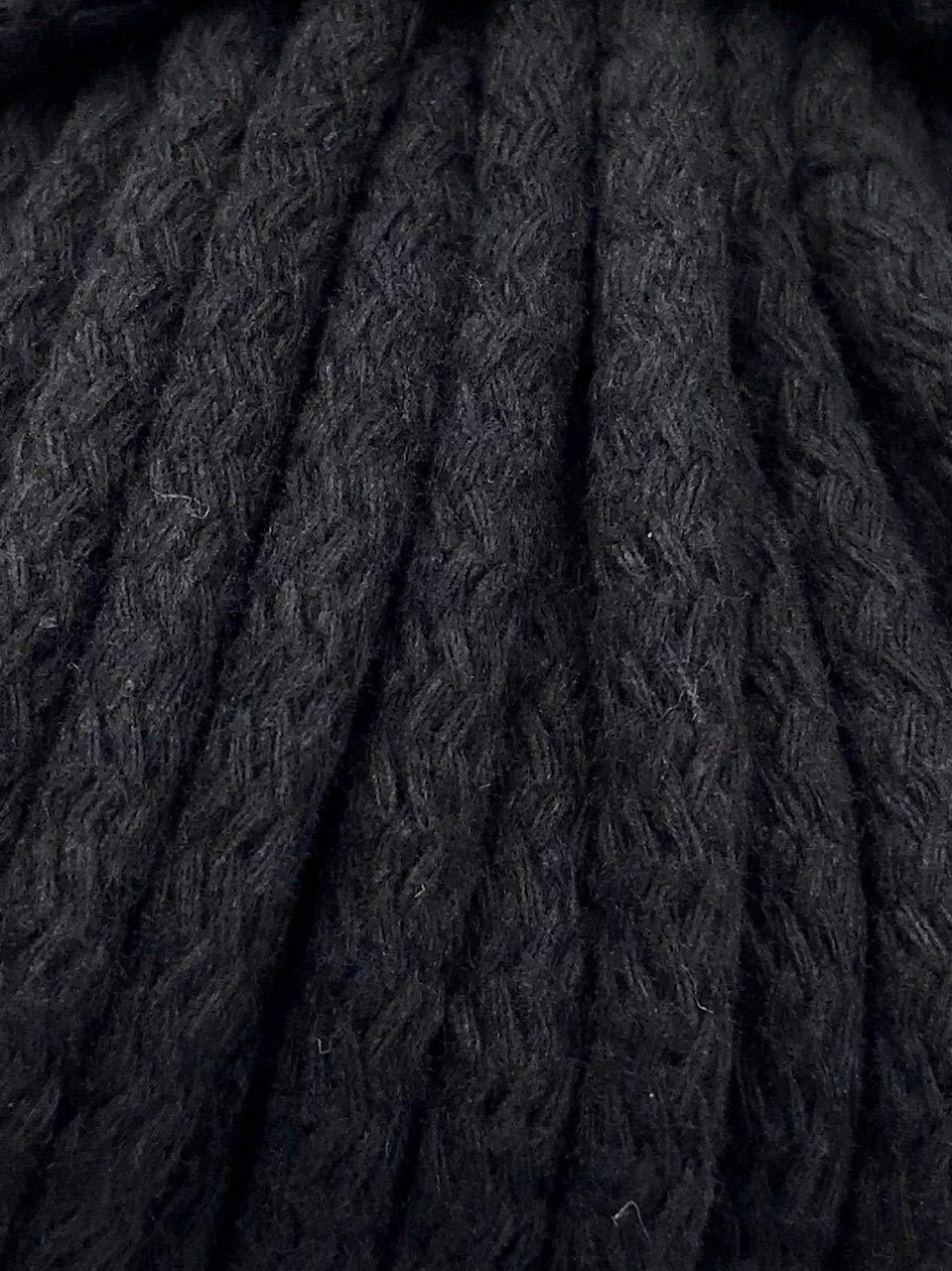 5m Kordel Baumwolle 8mm rund Schnur Turnbeutel Seil 4 Farben Slantastoffe 1m 3m Dunkelblau, 1m