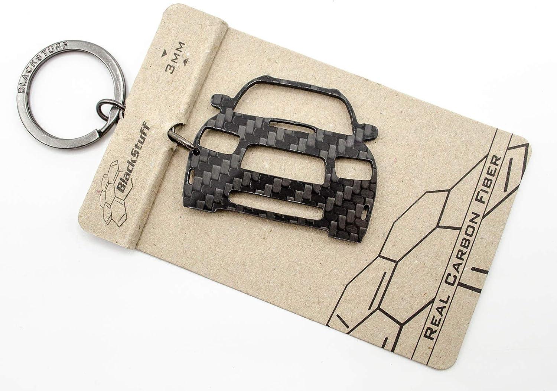 BlackStuff Carbon Fiber Keychain Keyring Ring Holder Compatible with Forester SG 2005-2007 BS-818