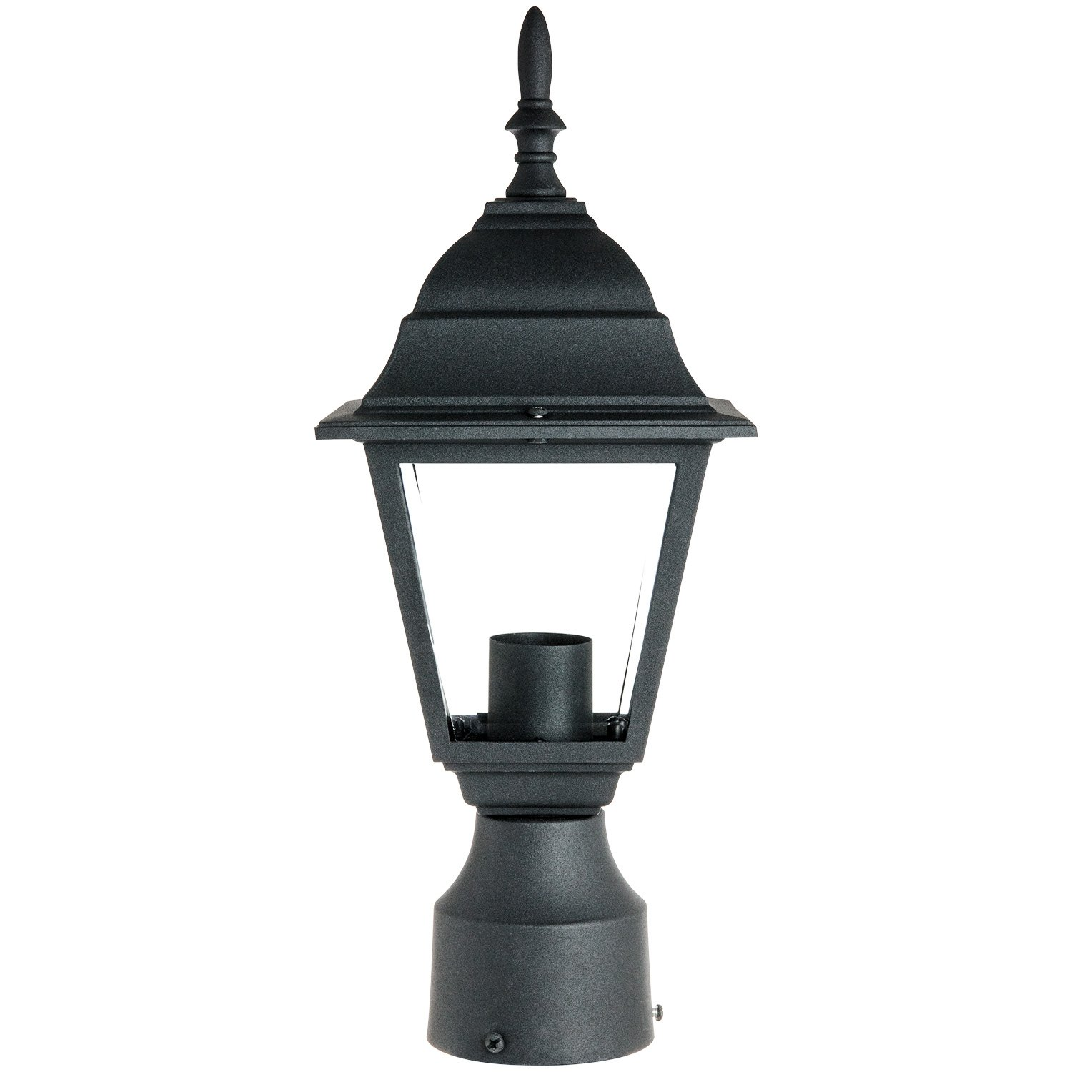Sunlite odi1150 15 inch decorative light post outdoor fixture sunlite odi1150 15 inch decorative light post outdoor fixture black finish with clear glass lamp post lights outdoor amazon arubaitofo Choice Image