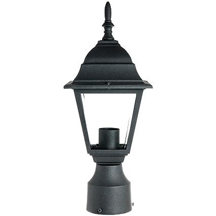 sunlite odi1150 15 inch decorative light post outdoor fixture black