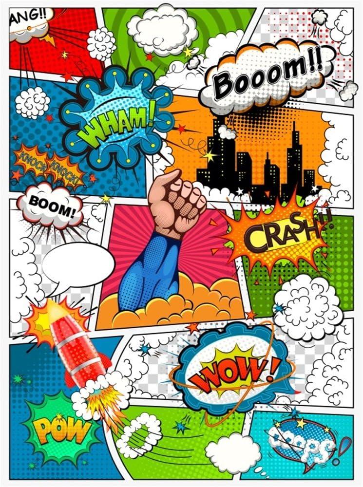 Cartoon Spookiz Backdrop Childrens Birthday Party Photo Backdrop Spookiz Background Photography Vinyl Banner Party Decorations Baby Shower Backdrop Video Drape Photo Prop5x3FT