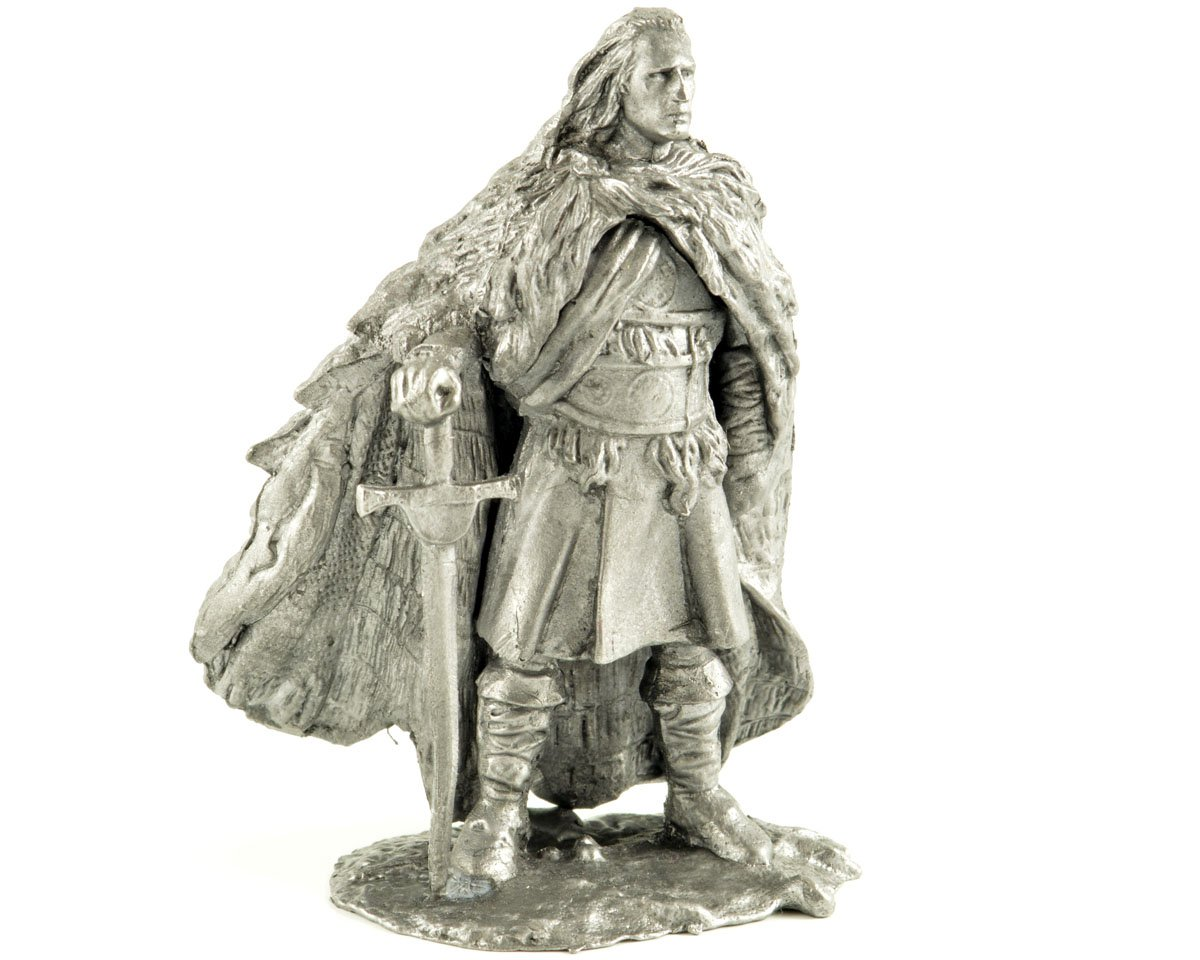 Tin toy soldiers. Scotland. Duncan McCloud. The Highlander. 16th Century metal sculpture, statue. Collection 54mm (scale 1/32) miniature figurine