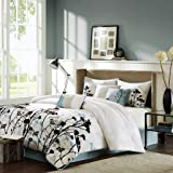 Madison Park Matilda 7 Piece Comforter Set, Queen, Blue