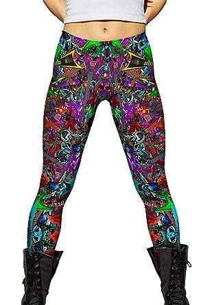34b46a194acc5 Yizzam- Electric Guitar Rock Star Musician Pride- Ladies Womens Leggings  -X-Small