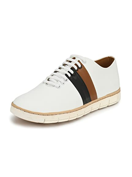 a0e16c5bae35c Guava Draco Casual Shoes - White: Buy Online at Low Prices in India ...
