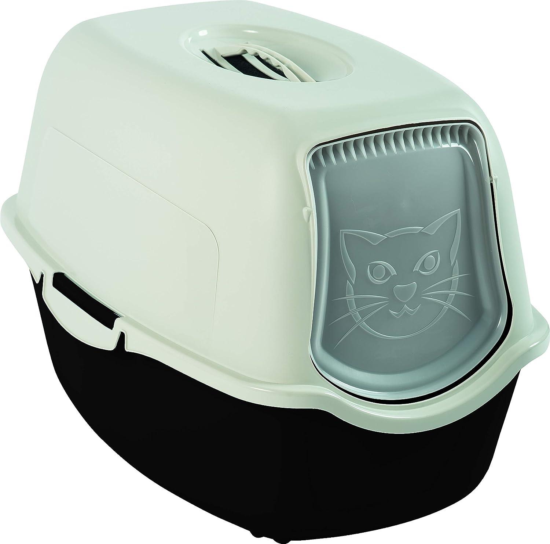 Rotho Arenero para gatos tapa y puerta, fácil de limpiar ...