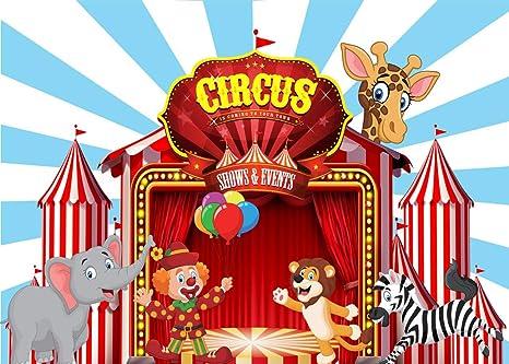 AIIKES 2.1Mx1.5M/7x5FT Circo Telón de Fondo de la Fotografía Cumpleaños Fiesta