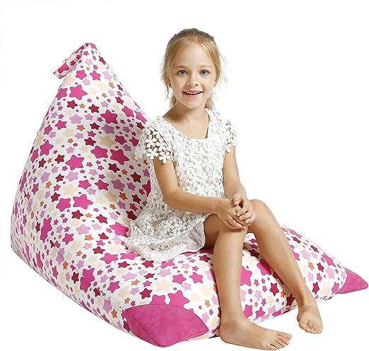 Premium Cotton Canvas Xmas Gift Ideas Aubliss Stuffed Animal Storage Bean Bag Chair Extra Large Plush Animal Toy Organizer for Kids Girls and Children 23 Inch Long YKK Zipper