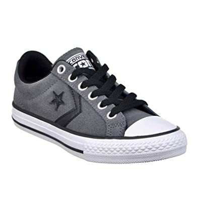 051c1e9c260f Image Unavailable. Image not available for. Color  Converse Kids Star  Player EV Ox Thunder Black Textile Trainers 11.5 US