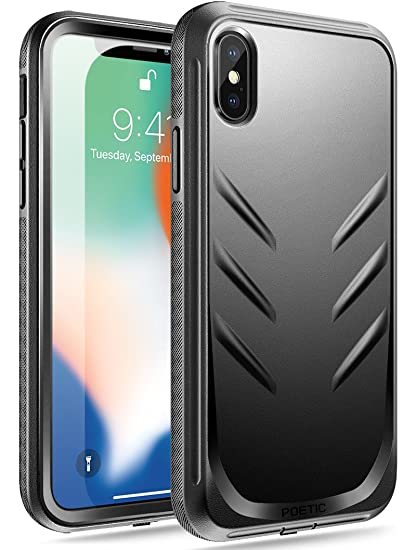 best cheap 8cf56 0cca6 iPhone Xs Rugged Case, iPhone X Rugged Case, Poetic Revolution [360 Degree  Protection][Built-in-Screen Protector] Full-Body Rugged Heavy Duty Case for  ...