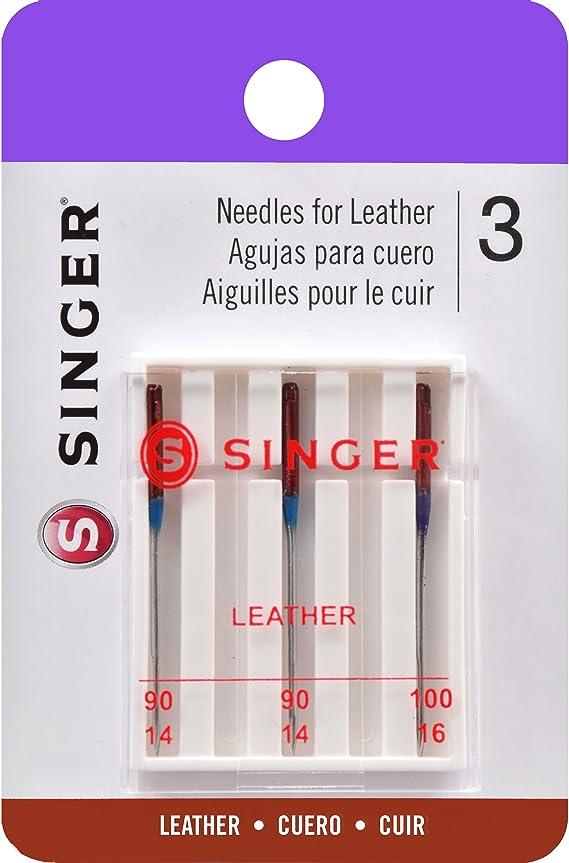 Singer Agujas de máquina de Coser, Cuero: Amazon.es: Hogar