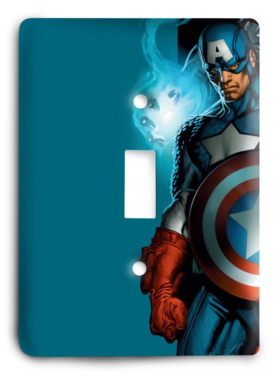 Ultimate Spiderman Thor Captain America Thor Light Switch Cover