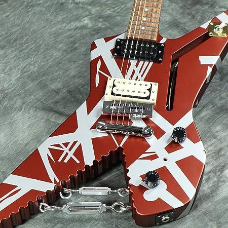 Guitarra eléctrica de tiburón EVH serie a rayas: Amazon.es ...