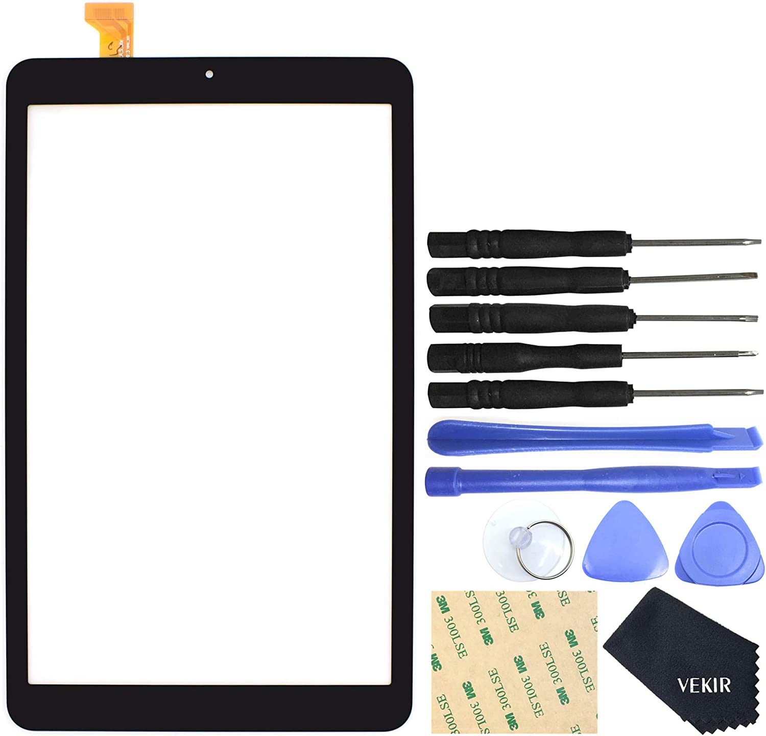 VEKIR[NO LCD] Touch Digitizer Screen Replacement for Samsung Galaxy Tab A 8.0 2018 SM-T387 (Black)
