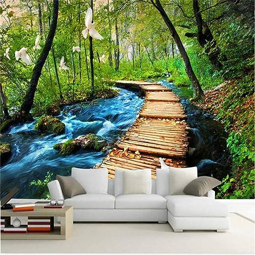 YBHNB Murales en 3D para la Sala de Estar, Fondo Puente Cascadas ...