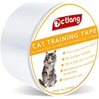H HOME-MART Anti Cat Scratch Tape, 4 inches x 30 Yards Cat Training Tape, 100% Transparent Clear Double Sided Cat…