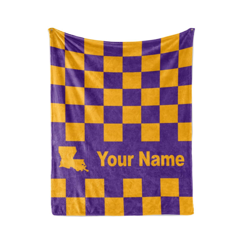 Amazon.com : LSU Tigers Themed Custom Fleece Blanket - Personalized ...