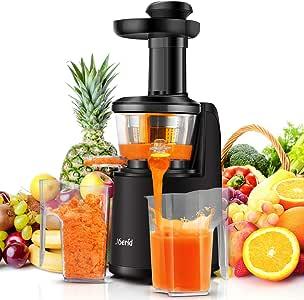 Joerid Slow Juicer - Exprimidor de frutas y verduras con motor de ...