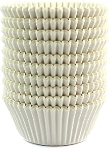 Eoonfirst Standard Size Baking Cups 200 Pcs (White)