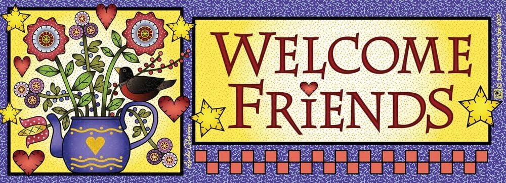 Teapot Welcome Friends Art-Snaps!® Magnetic Mailbox Art
