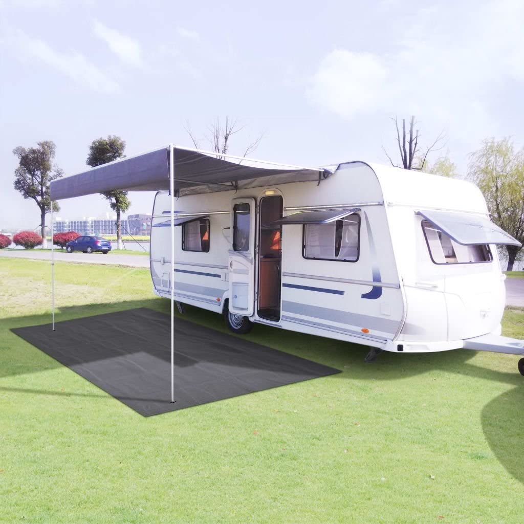 vidaXL Alfombra de Camping 250x400cm Verde Senderismo Accesorios para Acampada