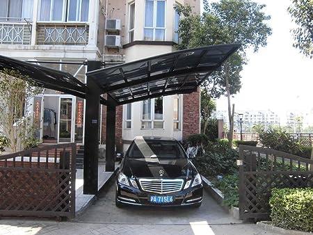 ClearYup 10 x 20 pies Metal carports toldos Garaje Carpa cenador canalón de y de Aluminio con Paneles de policarbonato, RV Aparcamiento Cubierto de Metal para Coche, Yacht y Copter, Estilo Diagonal: