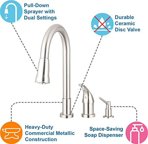 Grandview Pull Down Kitchen Faucet Gooseneck Style Review
